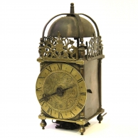 Rare and early fusee English dial clock in exceptional and original condition.