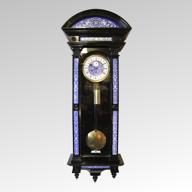 A rare and most unusual exhibition quality ebonised Unique clocks for sale