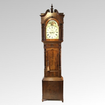Welsh mahogany longcase clock by David Herbert of Aberystwith circa 1840.