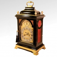 A good ebonised Georgian Bracket or Table clock for sale.