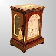Small Rosewood fusee Library or mantel clock for sale by De la Salle & Christie.