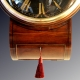 A rare and early black dial fusee wall clock for sale circa 1820.