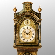 Green lacquered George II longcase clock for sale circa 1760.