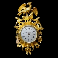 A fine and rare English Cartel clock for sale. Circa 1770.