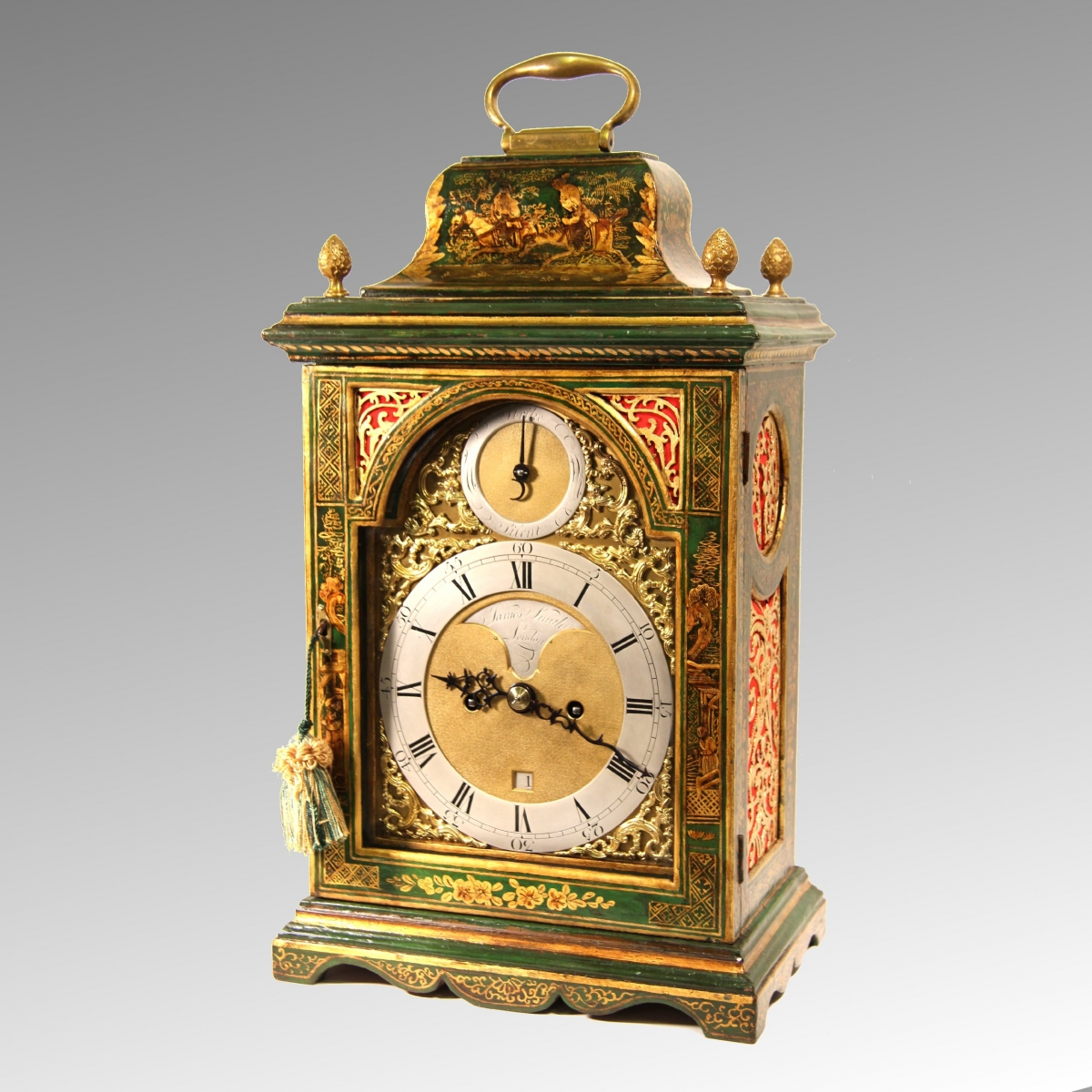 Georgian Antique English Bracket Clock For Sale By James