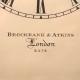 Rosewood bracket clock for sale by Brockbank & Atkins.