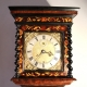 036 Early English first period marquetry longcase clock.