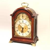 Rare triple pad top mahogany bracket clock for sale by John Taylor of London. Circa 1780.