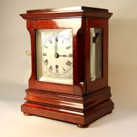 Small English chain fusee library timepiece by Webster of London. Circa 1875