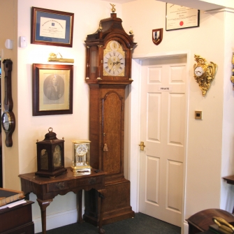A good walnut longcase clock for sale by James Bentley of London c. 1745.