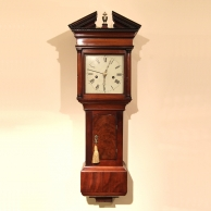Rare and small hooded Trunk wall clock for sale,