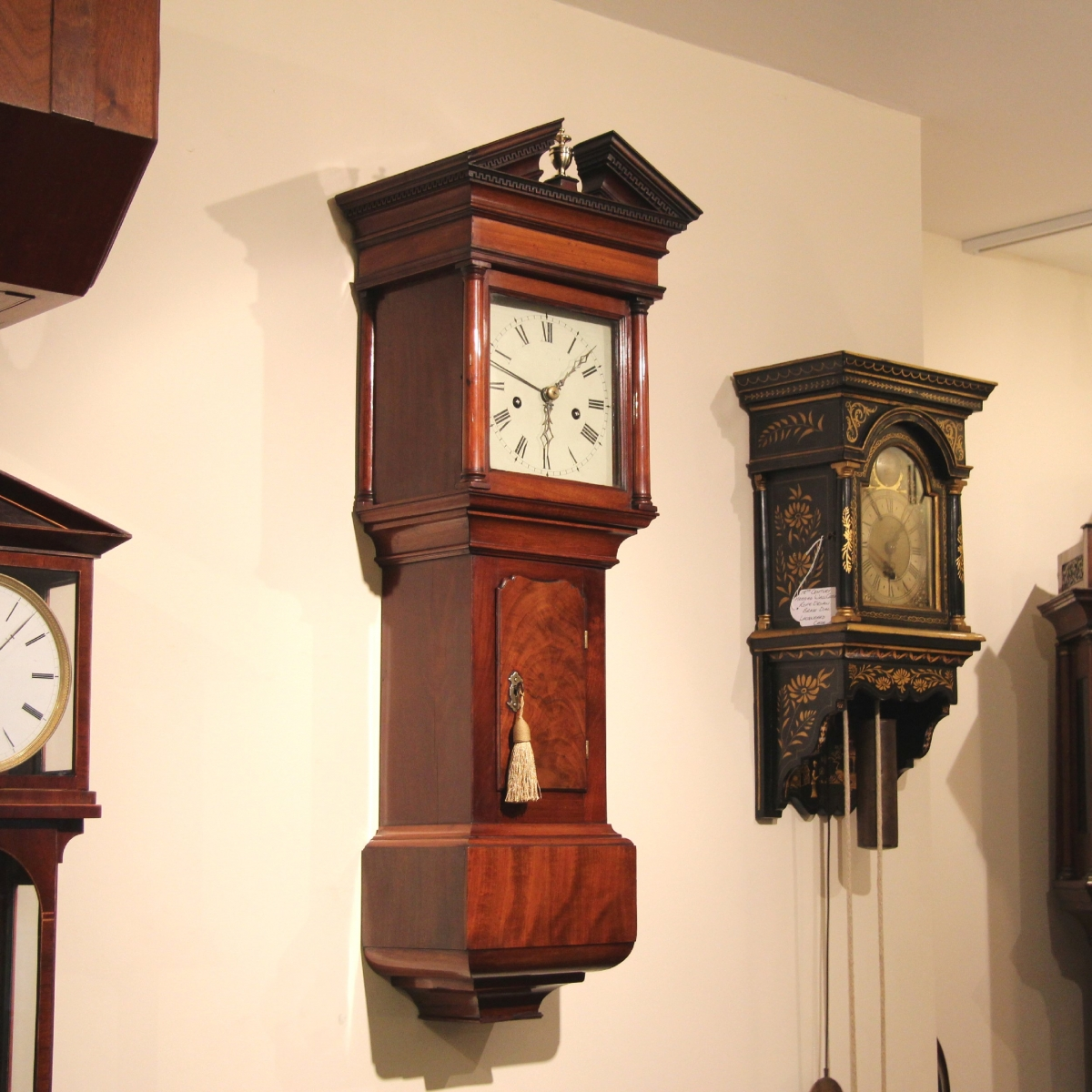 Rare and good hooded trunk wall clock for sale rare and small hooded trunk wall clock for sale amipublicfo Images