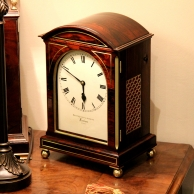 Rosewood bracket clock for sale by Brockbank & Atkins.