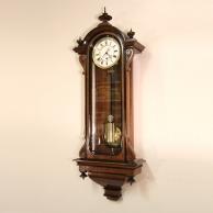 Miniature Vienna Regulator timepiece wall clock for sale. Circa 1880.
