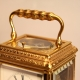 A very fine engraved carriage clock.