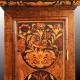 Marquetry walnut  longcase clock by Christopher Gould, London. Eight day movement with an eleven inc