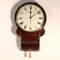Regency English Drop dial wall clock for sale by Frankcom and Mowat of Bath.