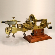 Clock and Watchmaker's brass Mandrel lathe for sale.