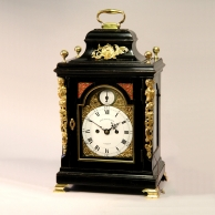 Small transitional English bracket clock for sale by Robert Henderson of London. Circa 1780.