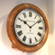 Large light oak fusee wall clock for sale.
