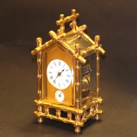 Rare Bamboo style French repeating carriage clock for sale. Circa 1885