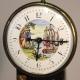 Small Regency, fusee painted mantel clock. Circa 1819.