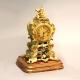 Regency fusee English mantel clock. Rococo style ormolu case. By John Peterkin, London. C.1820.