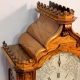 Chiming bracket clock. Large walnut case, triple chain fusee movement, superior quality, late 19th c