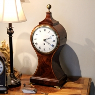 Balloon bracket clock for sale by Desbois and Wheeler, Grays Inn Passage London. Circa 1820.