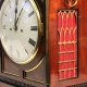 English Regency, chamfer top mahogany bracket clock circa 1820.