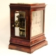 5 Glass library clock with striking double fusee movement and in a mahogany case. Circa 1850