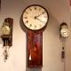 Tavern clock by James Barfoot of Wimbourn (Wimbourne, Dorset). Having a mahogany case. Circa 1790.