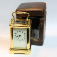 Sub-miniature antique french carriage clock. Circa 1900.