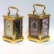 Sub-miniature antique french carriage clock. Circa 1900.