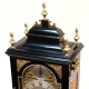 Georgian Bell top, fusee bracket or table clock. In an ebonised case circa 1775.