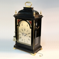 Verge bracket clock by Francis Perigal of London. Extremely original with an early silvered dial. ci