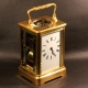 French repeating carriage clock in a corniche styled case. Circa 1880.