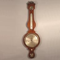 Rare mahogany mercurial banjo barometer.