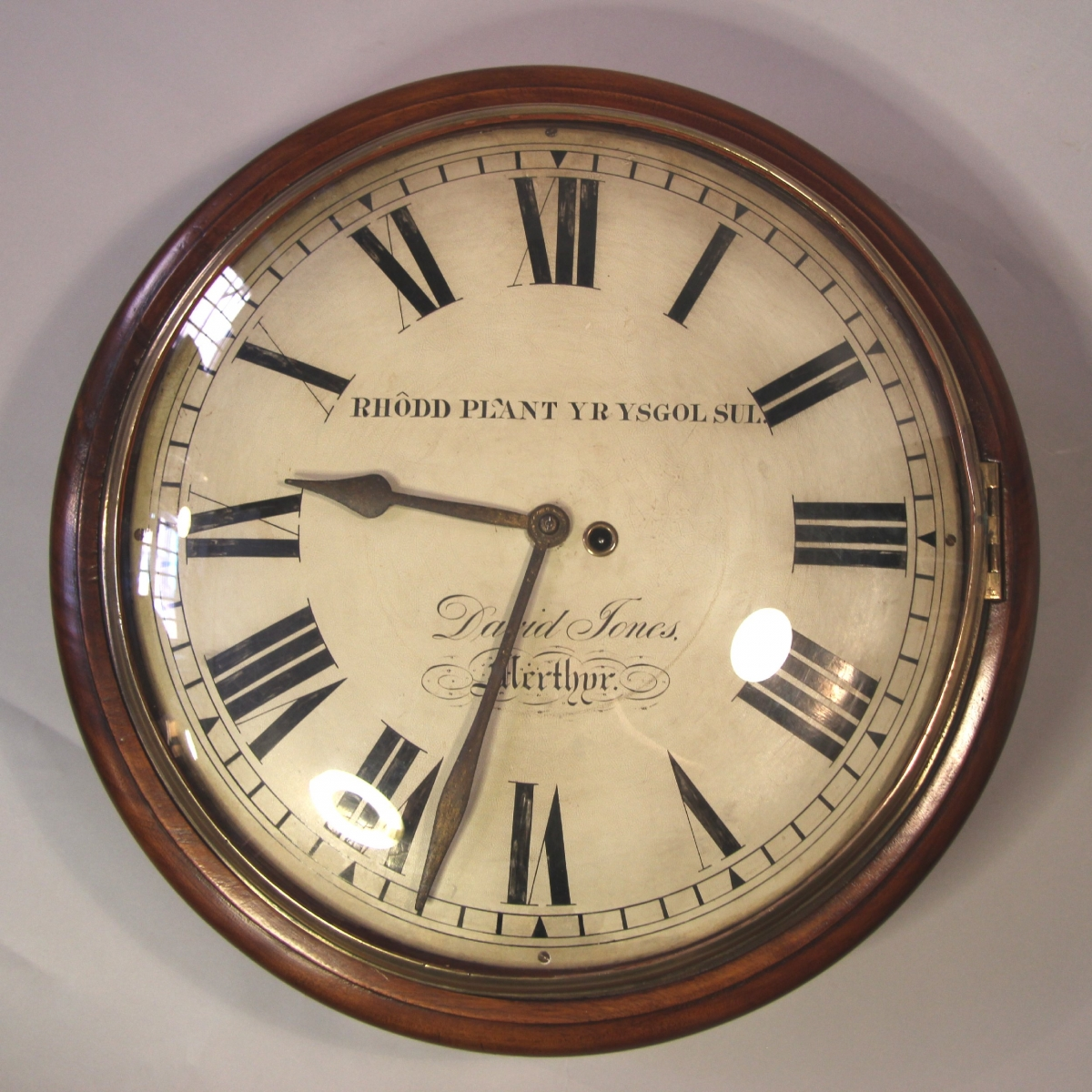 Large Welsh Dial Clock Made By David Jones Of Merthyr