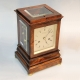 Striking fusee library mantel clock. Very small and rare 5 glass, in a Rosewood case. Circa 1835.