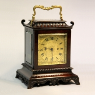 James McCabe, Oriental style striking mantel/four glass Library clock. Circa 1845.
