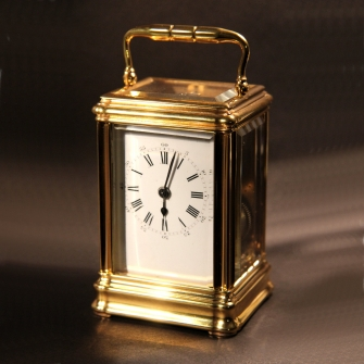Drocourt, small striking French Carriage clock in a gorge case. Circa 1870.
