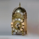 Lantern clock (converted to fusee) by John Ebsworth, New Cheap Side, London. Circa 1680.