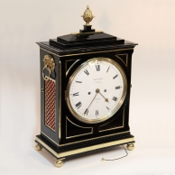 Regency Chamfer top bracket/table clock by Brockbanks & Atkins.