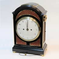 Georgian, verge escapement, striking bracket clock. Enamel dial, circa 1790.