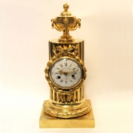 Fine French mantel clock by Gille L'Aine and Robert Osmond.