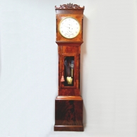 Longcase clock domestic regulator. Mahogany case. Circa 1850.