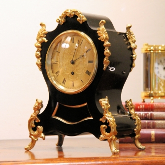 English fusee mantel clock by Frodsham and Son, Gracechurch Street, London. Circa 1835.