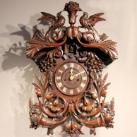 A good and large Black Forest Cuckoo clock with a double fusee, eight day movement.