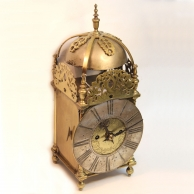 Converted English Lantern clock originally circa 1670. Maker: John Harris of London.